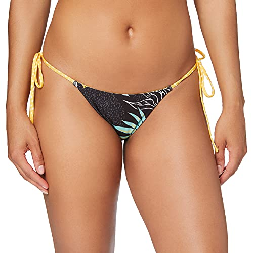 Hurley W Q/D Reversible Domino Tie Surf Bottom Partes De Abajo Bikini, Mujer, Oil Grey, S