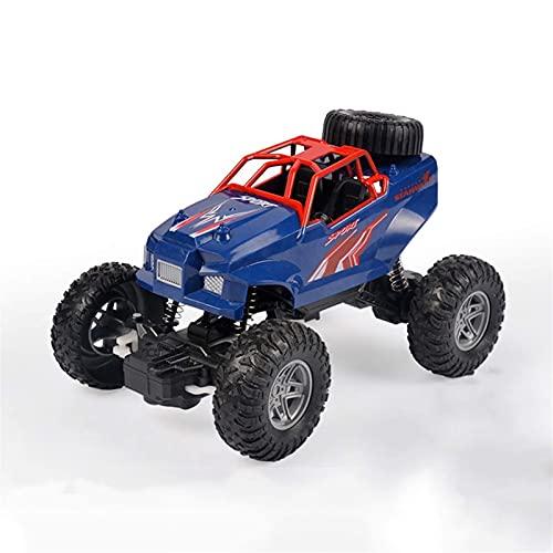 Escalada Tracción en Las Cuatro Ruedas Vehículo Todoterreno Carga Control Remoto inalámbrico Amortiguador Independiente Bigfoot Drifting Boy Toy (Color: A)