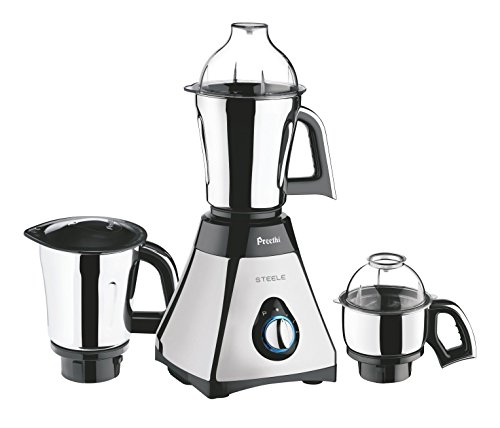 Preethi Mixer Grinder, 13 x 8.6 x 12.5 inches, Black, Silver