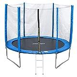 Jawinio Cama Elástica 305cm (10F) Trampolín de Jardín Jumper Set Completo, Incluye Escalera, Red de Seguridad y Salto Matte Azul