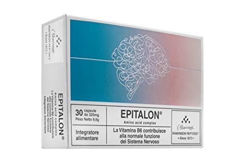Epitalon es un Complemento Alimenticio de Péptidos con vitamina B6 que ayuda al Sistema Nervioso Central Sano y el Cerebro – 30 cápsulas