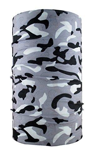 HeadLOOP Multifunktionstuch Camouflage Winter grau Loop Schlauchtuch Schal Halstuch Kopftuch Microfaser