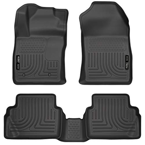 Husky Liners Fits 2011-19 Ford Fiesta Weatherbeater Front & 2nd Seat Floor Mats