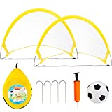 NEOWEEK Soccer Goals for Kids Age 2-6 Years Old, Toddler Soccer Set with 2 Pop Up Collapsible...