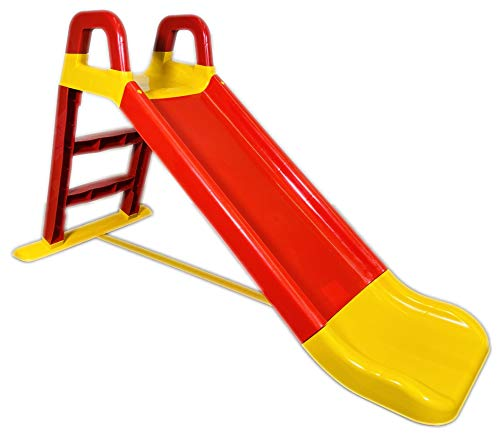 BUSDUGA Rutsche Rot-Gelb - kompakte Kinderrutsche ab 18 Monate - robuster Kunststoff