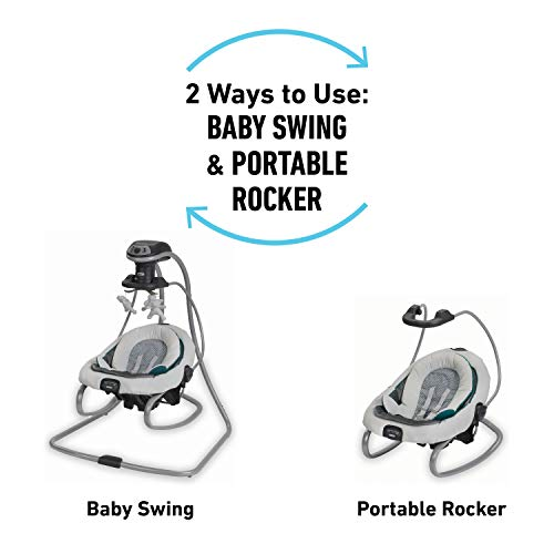 Graco DuetSoothe Baby Swing and Rocker, Sapphire