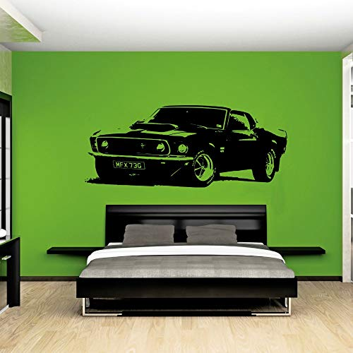 Ford Mustang 1969 Removable Vintage Large Car Wall Decal Sticker Art Home...