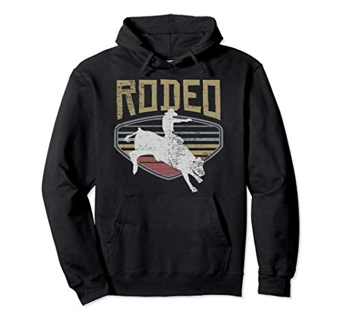 Rodeo Vintage Retro Style Bull Riding Gift T-Shirt Pullover Hoodie
