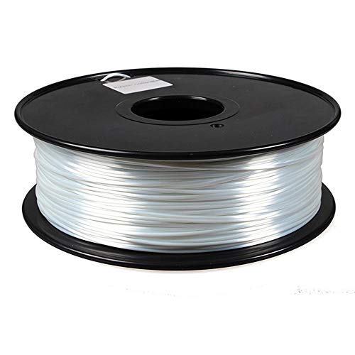 PLA Silk Filament 1.75mm, 3D Printer Filament 1kg, Polymer Composite Material, High Gloss-White
