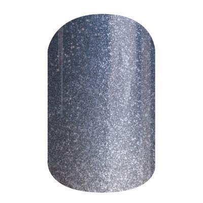 Serenity Ombre - Jamberry Nail Wraps - HALF Sheet - Light Blue & Silver Sparkle Ombre - Color of the Year 2016