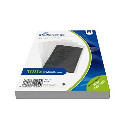 Price comparison product image MEDIARANGE Zubehör CD- / DVD-Rohlinge Clear 1dischi Pocket Case