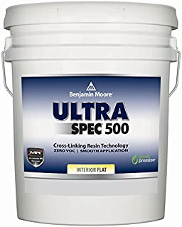 Benjamin Moore Ultra Spec 500 Interior Paint - Flat Finish (5 Gallon, White)