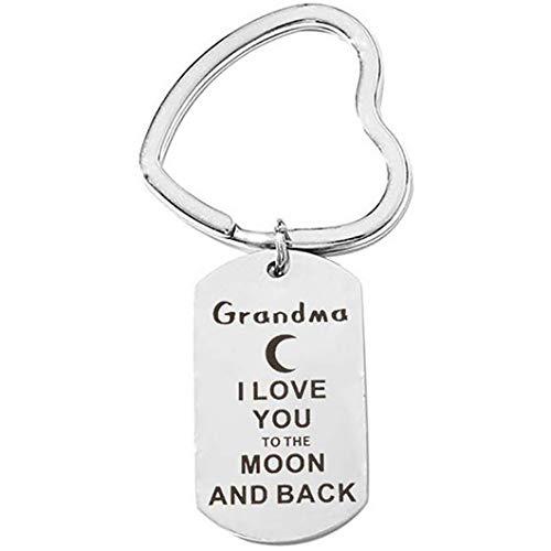Sperrins Nouveau type coeur de pêche grand-père grand-mère maman papa fils soeur porte-clés accessoires de bijoux de maison douce, style 2