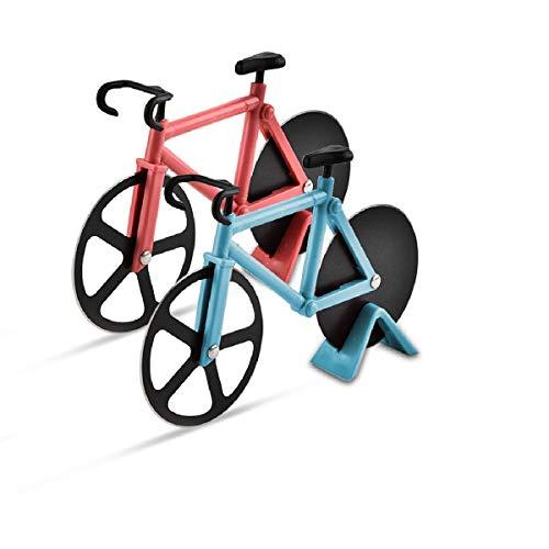 Fahrrad Pizzaschneider, 2 Stück Pizzaschneider, Fahrrad-Pizzaschneider, Fahrrad-Pizzaschneider mit Antihaftbeschichtung Serviergeschirr mit Ständer