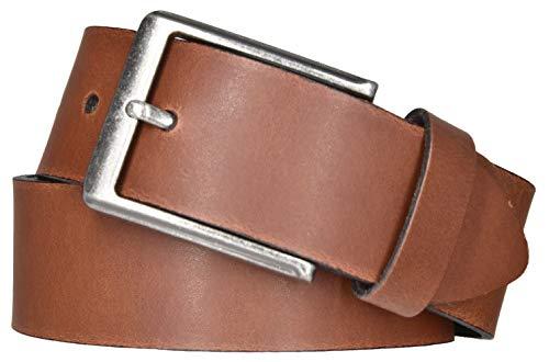 Mytem-Gear Leder Gürtel 4 cm Jeansgürtel Ledergürtel kürzbar (105 cm, Cognac (Ledergürtelschlaufe))