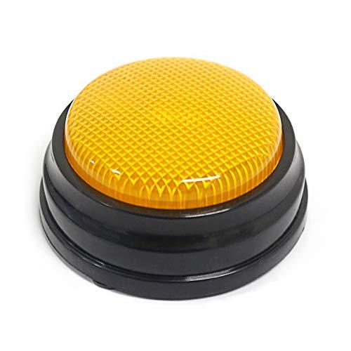 Galapara Antwort Buzzer, Buzzer mit Licht & Sound,Aufnahmefähige Sprechtaste mit LED-Lernressourcen Antwortsummer Orange