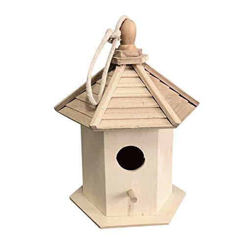 XJF Mini DIY Holzvogelhäuser Vogelhaus für Dekoration Basteln für Kinder Erwachsene