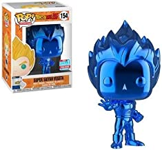 Funko Pop! Dragon Ball Z: Blue Chrome Vegeta Super Saiyan NYCC 2018 Shared Exclusive
