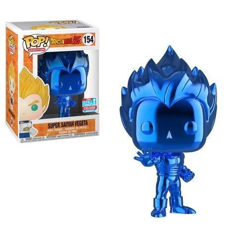 Funko Pop! Dragon Ball Z: Blue Chrome Vegeta Super Saiyan NYCC 2018 Shared Exclusive