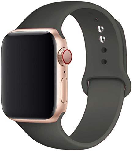 Cinturino in Silicone per Cinturino Apple Watch 5 44 Mm 42 Mm 38 Mm 40 Mm Correa Cinturino Cinturino Cinturino per Iwatch Serie 6 Se 5 4 3 42 44 Mm, Cacao, 38 O 40 Mm SM
