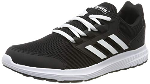 adidas Mens Galaxy 4 Running Shoes, Black, 43 1/3 EU