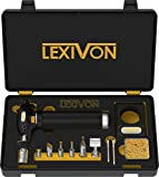 LEXIVON Butane Torch Multi-Function Kit | Premium Self-Igniting Soldering Station with Adjustable...