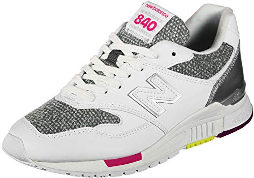 New Balance 840, Sneaker Donna, Bianco (White/Classic Gold AA), 42 EU