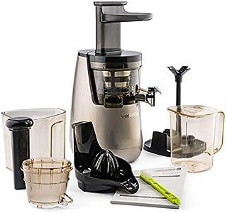 Versapers 5G Exprimidor lento de prensa en frío plateado 150 W (43 RPM) con 5 accesorios para jugo de frutas y verduras fr...