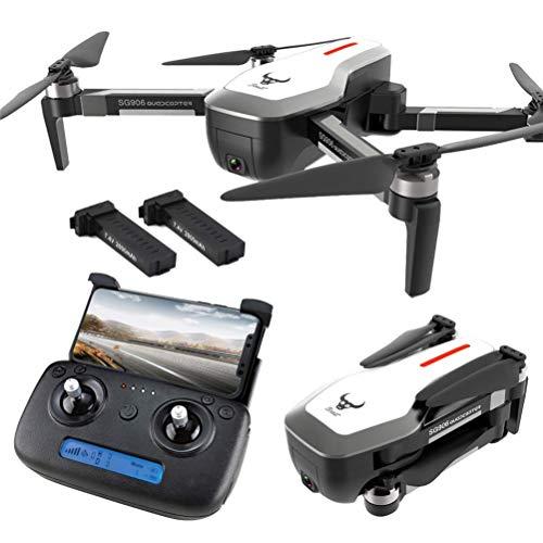 ZHCJH Dron GPS con cámara 4K HD para Adultos, Dron GPS Plegable, Transmisión en Tiempo Real 5G WiFi FPV, Tiempo Vuelo 50 Minutos (25 + 25), Cuadricóptero RC Drone con Maleta One Key Return