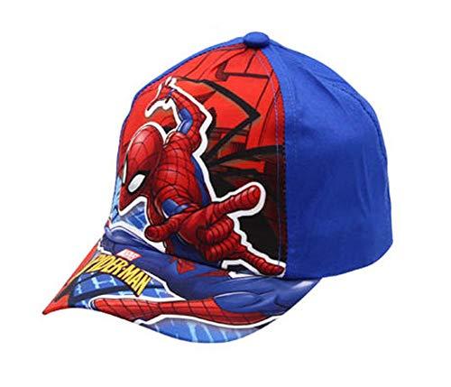 Marvel Spiderman Jungen Cap Kappe Schirmmütze (52, Dunkelblau)