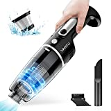 YANTU Car Vacuum, Cordless Handheld Car Vacuum Cleaner with Metal Hepa, Portable High Power for Quick Car Cleaning, Mini Auto Vacuum Cleaners for House, Car & Office (Black)