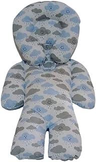 Almofada Protetora Redutor de Bebê Conforto Nuvem Cinza com Azul
