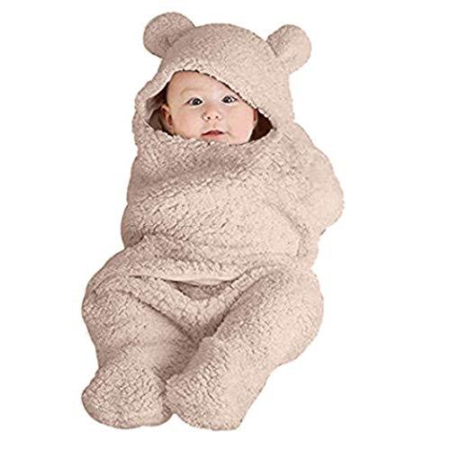 Longra babyslaapdeken voor pasgeborenen, uniseks, wit, schattige katoenen deken, decoratie, diermotief, slaapzak, voor pasgeborenen, baby en rompertjes met - - 0-12 Mois