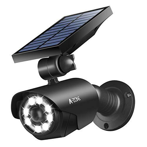 Solar Motion Sensor Light Outdoor - 800Lumens 8 LED Spotlight 5-Watt...