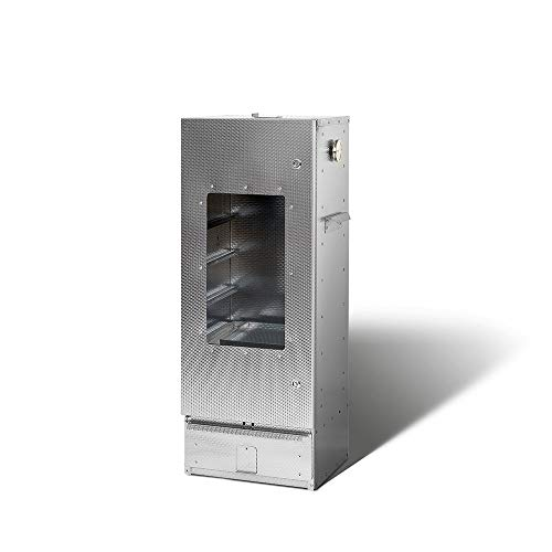 SMOKI EINKAMMER Räucherofen 100x39x33cm mit Scheibe aus aluminiertem Stahl