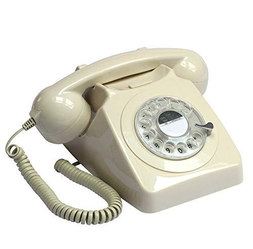 GPO 746 Teléfono fijo de disco con estilo retro de