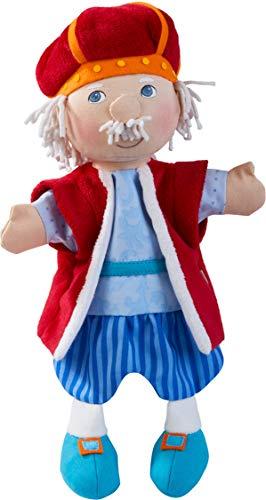 HABA 304204 - Handpuppe König, Märchenfigur für erste Rollenspiele und klassische Puppentheater, Spielzeug ab 18 Monaten