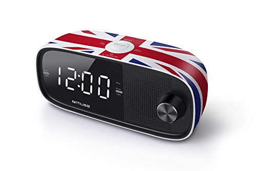 Muse M-168 UK Radiowecker/Uhrenradio mit Jumbo Display Dual Alarm schwarz
