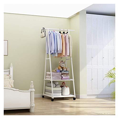 SENWEI Perchero multifunción extraíble para colgar ropa con ruedas, para colgar en el suelo, con triángulo de pie, para muebles (color: LYJ3 4)