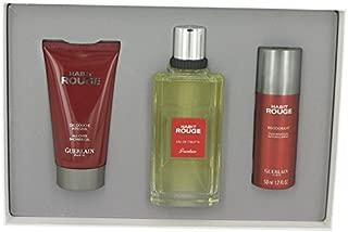 Habit Rouge Cologne By GUERLAIN Gift Set - 3.3 oz Eau De Toilette Spray + 2.5 oz Shower Gel + 1.7 oz Deodorant Spray FOR MEN