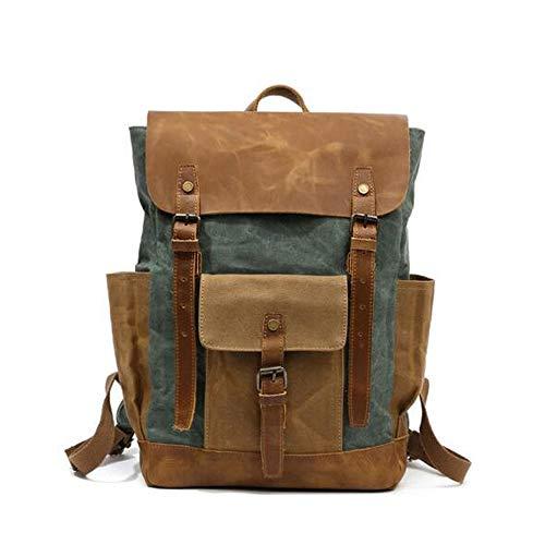 Zek Outdoor Travel Backpack, Large-Capacity Waterproof Backpack, Belt, Hardware, Partition Storage, 15.6in Laptop, Hiking/Schooling/Hiking, Lake Green