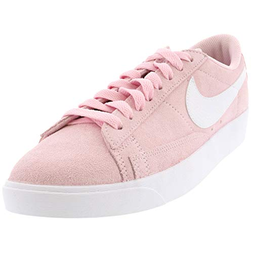 Nike Women's Blazer Low Sd Pink Foam Top Leather Sneaker - 8M