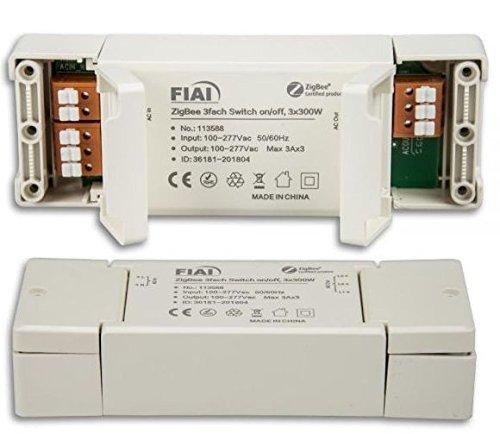 Funkschalter 3-Kanal ZIGBEE, 3 x 600VA Leistung, kompatibel mit Philips HUE®, Osram Lightify® und IKEA TRÅDFRI®