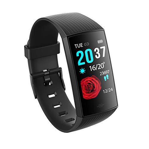 GaLon Activity Tracker Watch, 1,14 inch touch-kleurendisplay, waterdicht fitnesstracker-horloge, real-time bloeddruk, hartslagbewaking, slaap-herinnering, multisport-modus