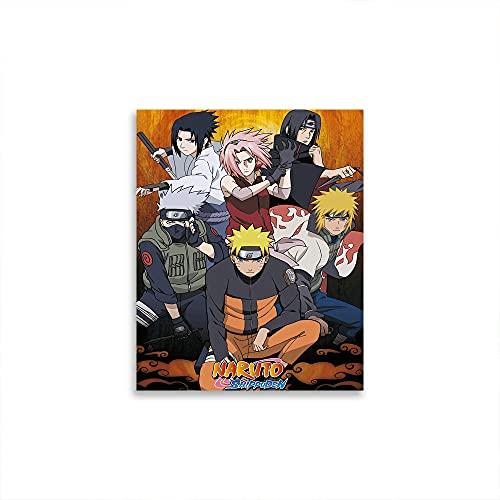 STTYE Naruto Shippuden - Póster de pared para niñas y niños, diseño de regalos divertidos, 61 x 91 cm