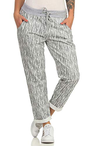 ZARMEXX Damen Sweatpants Baggy Boyfriend Sommerhose Sport All-Over Print One Size Muster 5 One Size (36-40)