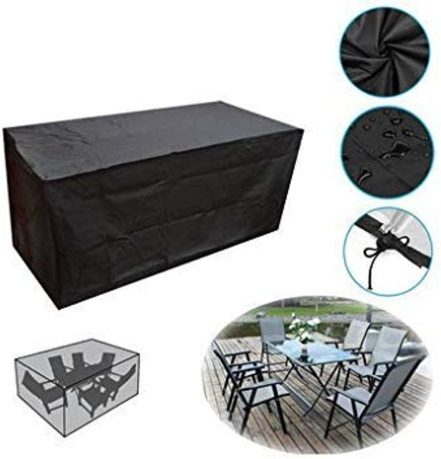 Outdoor Garden Waterproof Furniture Set Cover Table Bench Cube Dust Rain Predector - M
