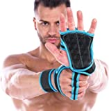 GymWar Workout Gloves with Wrist Support for Gym Workouts, Pull Ups, Cross Training