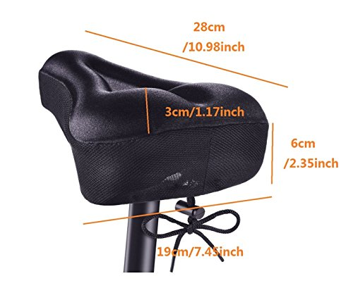 Kamay's Gel Bike Seat Cover 3D Thicker Silicone Cushion Bicycle Seat Cover Extra Soft Bike Saddle Cover Cushion For…