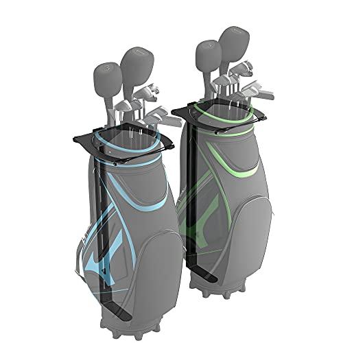 Koova Golftaschen-Aufbewahrungstasche für Zwei Taschen, Wandmontage, Garage Organizer für Schläger, passend für Jede Größe von Wagen oder Ständertasche, inkl. 2 Golftaschenhalterungen in voller Größe